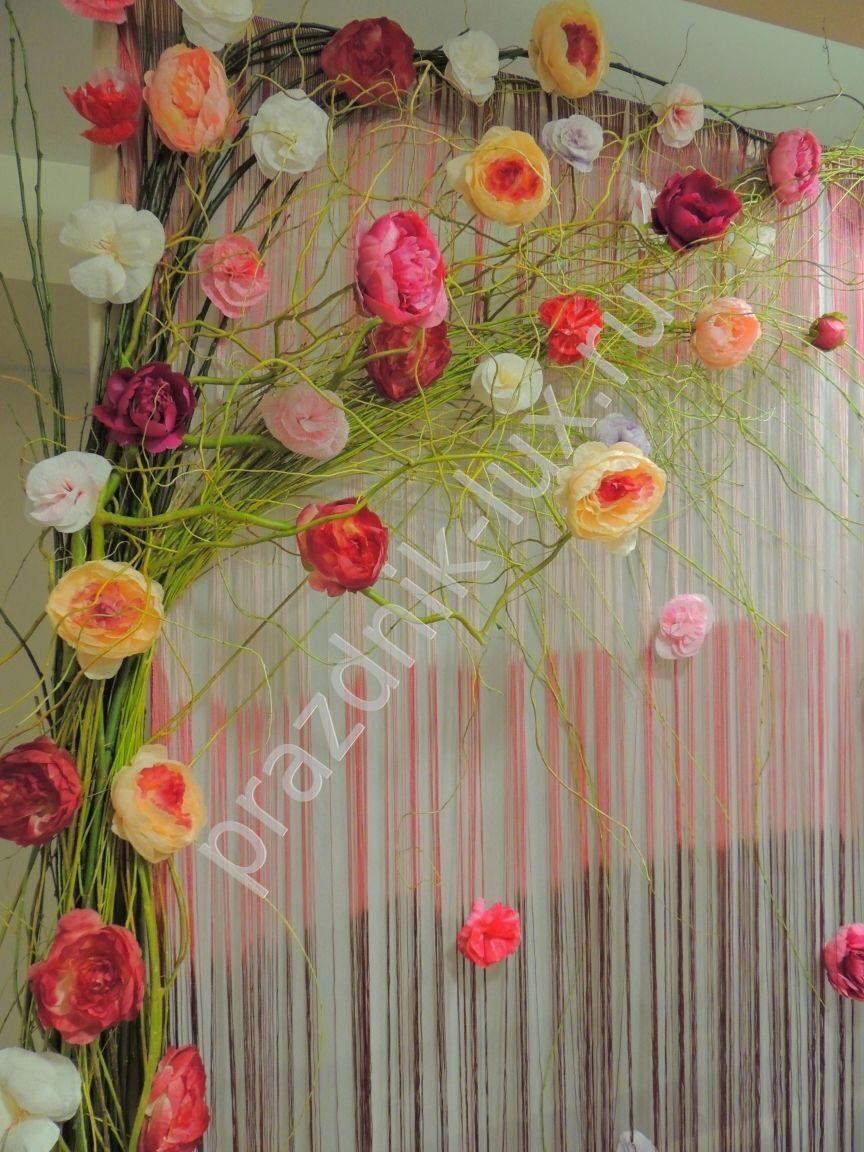 Большие цветы своими руками для украшения зала 763